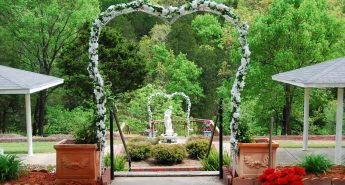 flower-covered arch