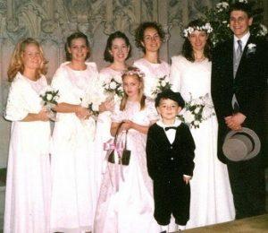 Donna F. Crow Wedding party