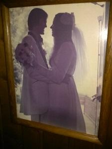 Mary Ellis wedding day