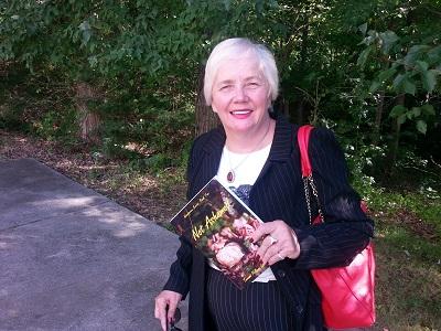 Teresa Pollard with book